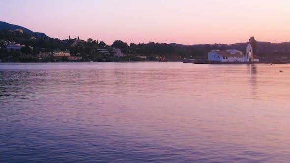 Thumbnail for Vlacherna Church Before Sunset, Corfu Time Lapse