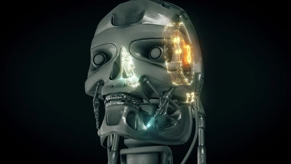 Футуристический гуманоидный робот Head Hd