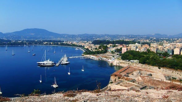 Cover Image for Aerial View of Yacht Marina, Corfu Time Lapse