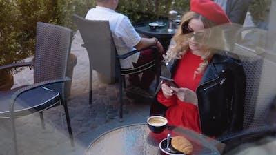 Coffee Break with Croissant