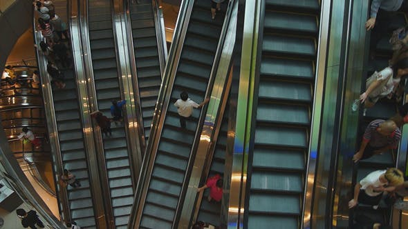 Thumbnail for Escalators In Shopping Center