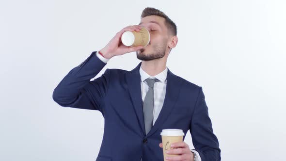 Thumbnail for Hyper Businessman Drinking Coffee