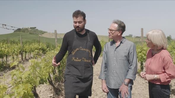 Thumbnail for Senior couple visiting vineyard