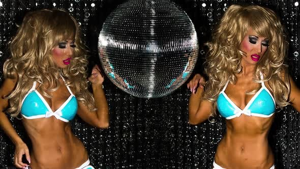 Thumbnail for disco female drag queen glamour party music burlesque