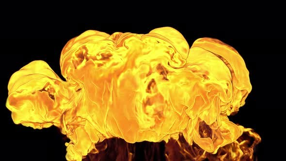 Fire Blast Slow Motion