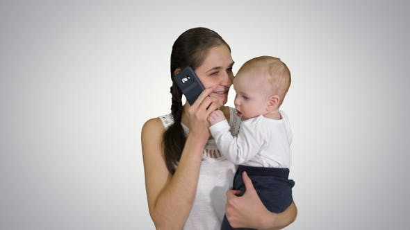 Motherhood multi-tasking, family and people concept -