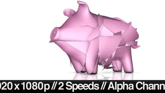 Thumbnail for Empty Piggy Bank Breaking - Normal & Slow Motion