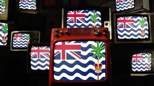 British Indian Ocean Territory Flag and Retro TVs.