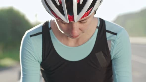 Thumbnail for Determined Cyclist Looking at Camera