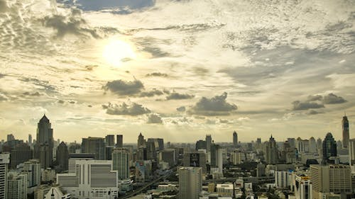 City Skyline Panorama Timelapse In HDR