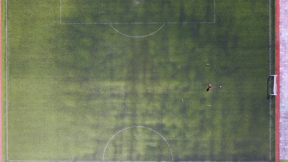 The Player Is Training At The Stadium