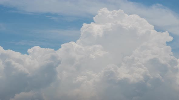 Blue sky white clouds. 4K Time lapse, beautiful sky with clouds background, Sky with clouds