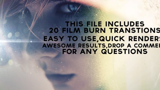 Thumbnail for Film Burn Transitions - 20 pack