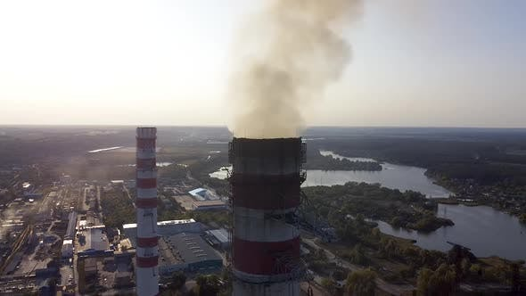Thumbnail for Environmental pollution by industrial plants throwing out harmful smoke from the chimney