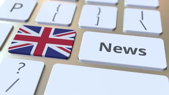 Thumbnail for News Text and Flag of the UK on the Keys of a Keyboard