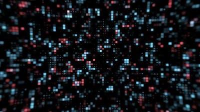 Digital futuristic matrix background