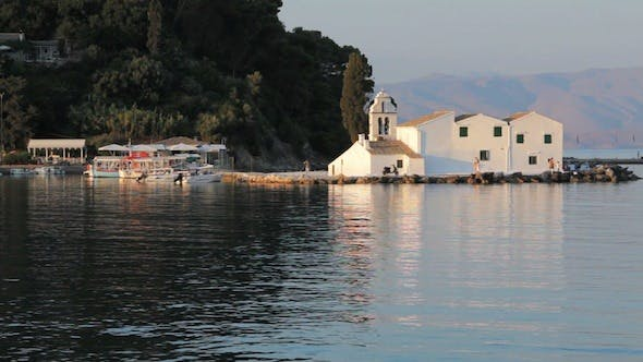 Thumbnail for Sunset Scene of Vlacherna Monastery, Kanoni 2