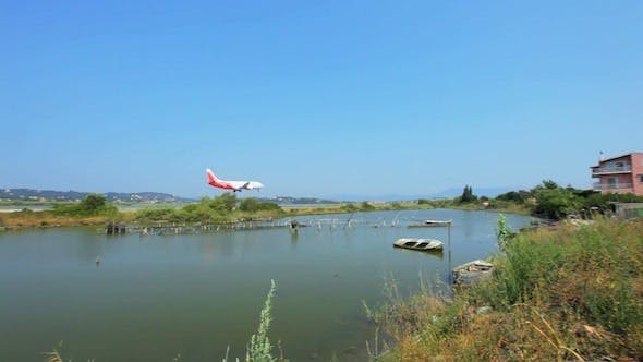Thumbnail for Landing of Airplane in Corfu Airport, Greece