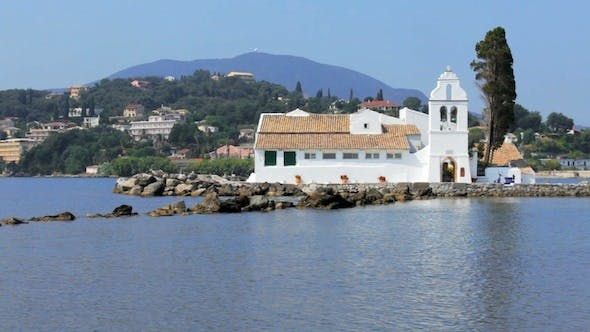 Thumbnail for Vlacherna Monastery, Kanoni, Corfu, Greece