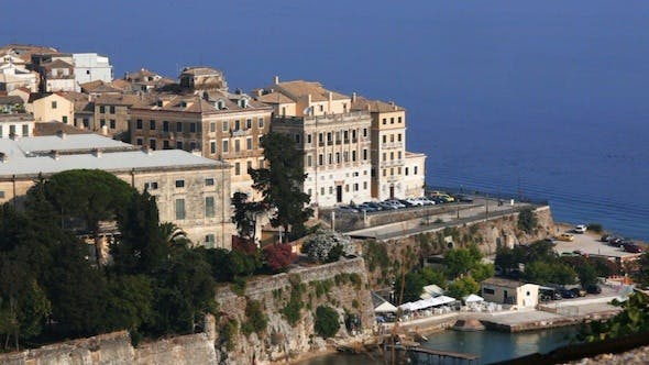 Thumbnail for Aerial View of Corfu City with Sunlight 2