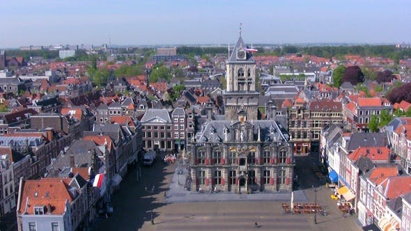 Cover Image for Aerial View of Delft City at Morning