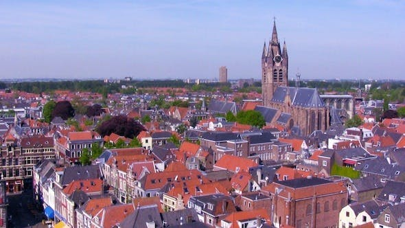 Cover Image for Aerial View of Delft City at Morning 2