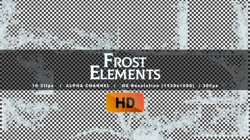 Frost Frame -10 clips - HD
