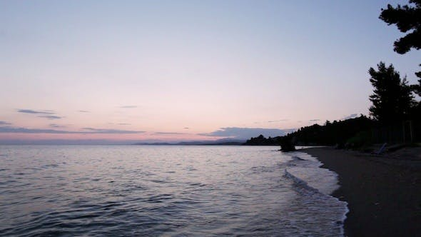 Thumbnail for Mediterranean Sea Beach After Sunset , Halkidiki