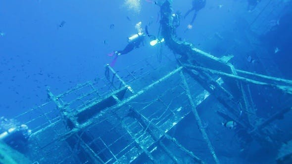 Thumbnail for Diver Exploring Zenobia Shipwreck, Paphos, Cyprus