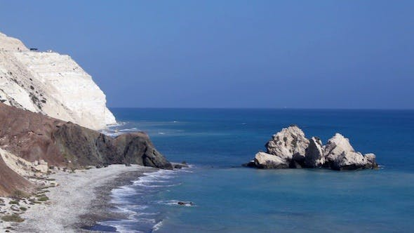 Thumbnail for Rocks Of Aphrodite In Blue Sea, Paphos, Cyprus