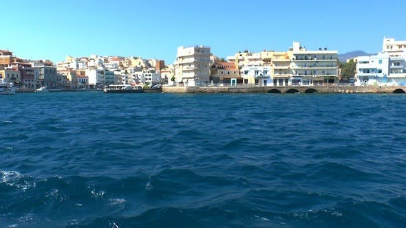 Thumbnail for Panorama Of Port from Boat, Agios Nikolaos, Crete