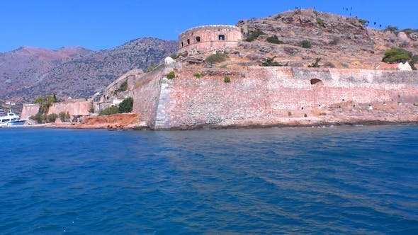Thumbnail for Medieval Spinalonga Castle From Boat, Crete