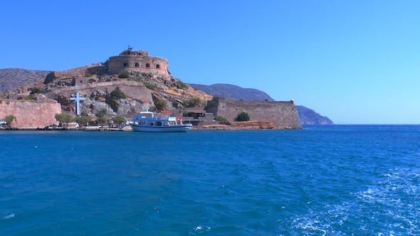 Thumbnail for Medieval Spinalonga Castle From Boat, Crete 2