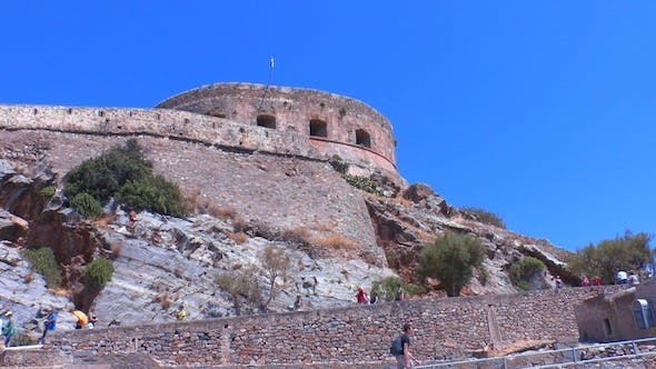 Closeup Of Medieval Venetian Castle, Crete