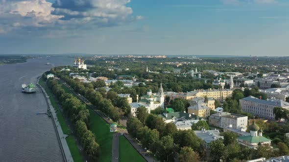 Thumbnail for Aerial View of Yaroslavl City Center in Russia