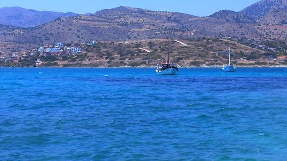 Cover Image for Seascape With Hills And Boats, Crete