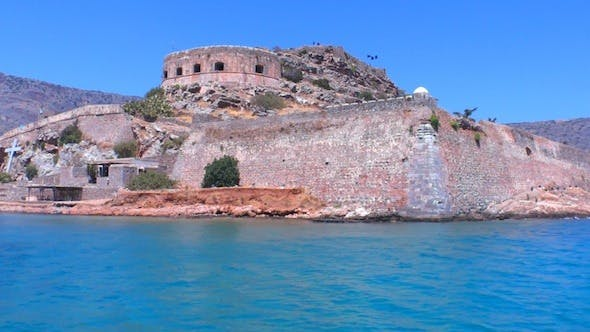 Thumbnail for Medieval Spinalonga Castle From Boat, Crete 3