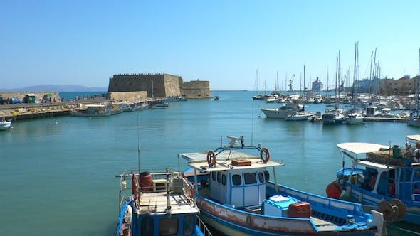 Cover Image for Sea Port Near Medieval Castle, Heraklion, Crete