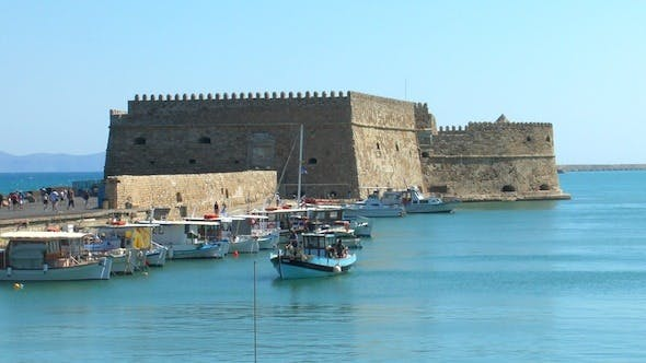 Thumbnail for Sea Port Near Medieval Castle, Heraklion, Crete 2