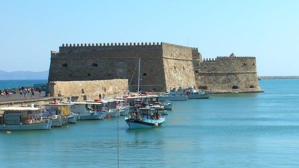 Thumbnail for Sea Port Near Medieval Castle, Heraklion, Crete 2