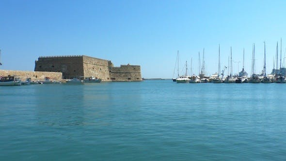 Thumbnail for Sea Port Near Medieval Castle, Heraklion, Crete 3