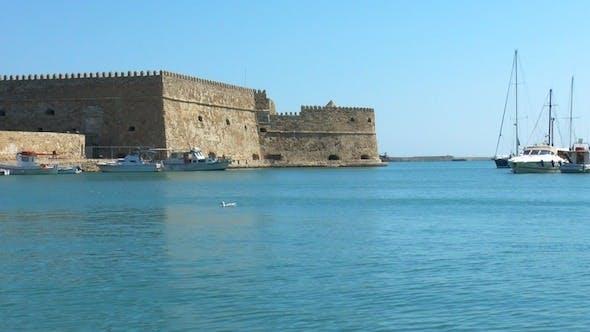 Cover Image for Sea Port near Medieval Castle, Heraklion, Crete