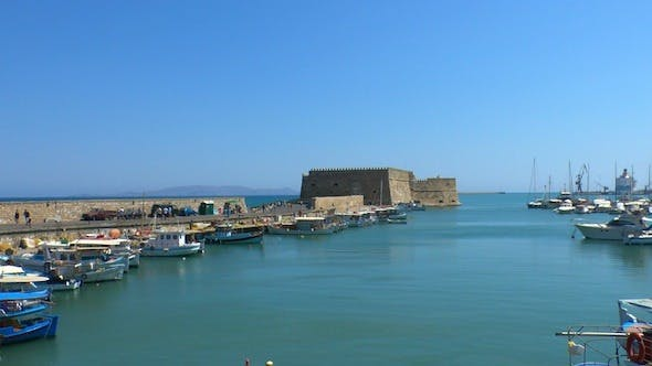 Cover Image for Sea Port Medieval Castle, Heraklion, Crete