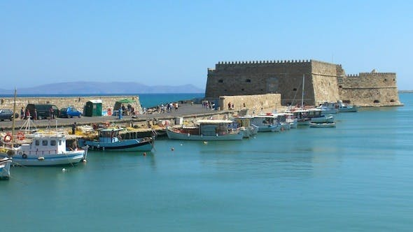 Thumbnail for Sea Port Medieval Castle, Heraklion, Crete 2