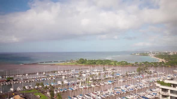 Thumbnail for Honolulu Marina Time Lapse
