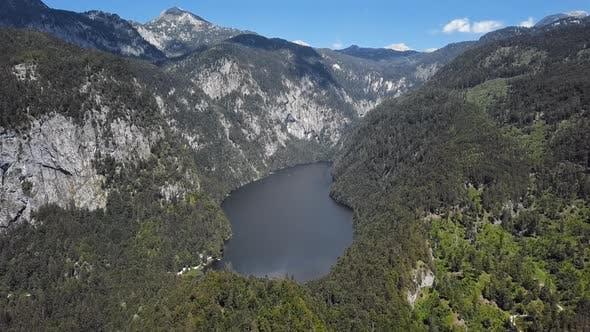 Aerial of Toplitzsee, Austria