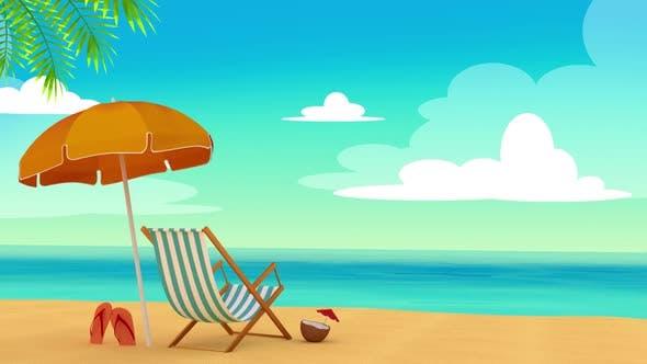 Relaxing Beach Background Loop