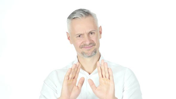 Thumbnail for Stop, Rejecting Gesture, No By Businessman , grey hair