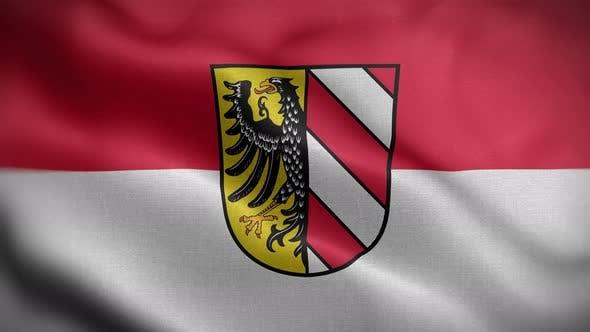 Nuremberg Germany Flag Loop Background 4K