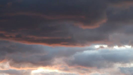 Thumbnail for Heavy Clouds At Sunset